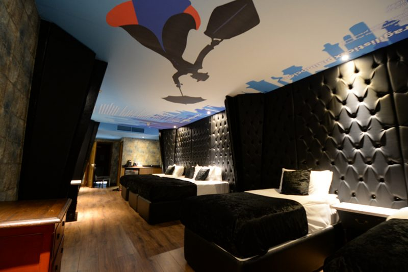 luxury movie themed hotel room Arthouse