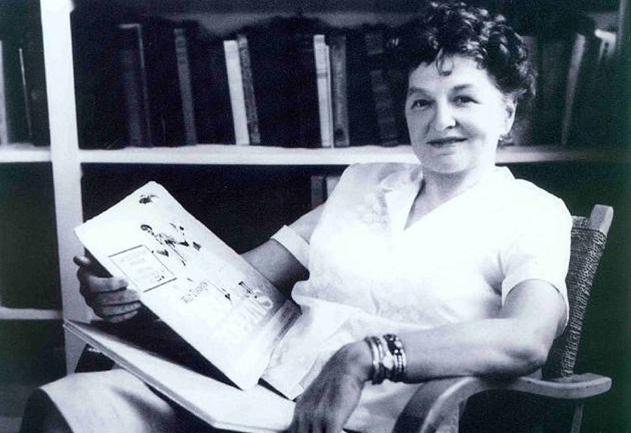 P.L Travers author of Mary Poppins