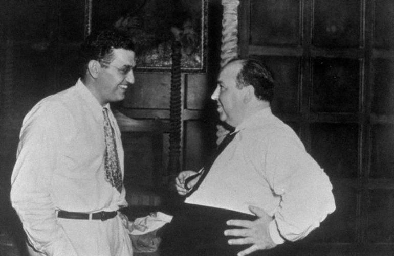 Alfred Hitchcock and David O. Selznick