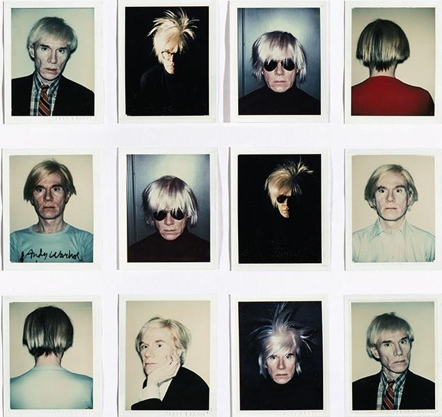 Andy Warhol selfie