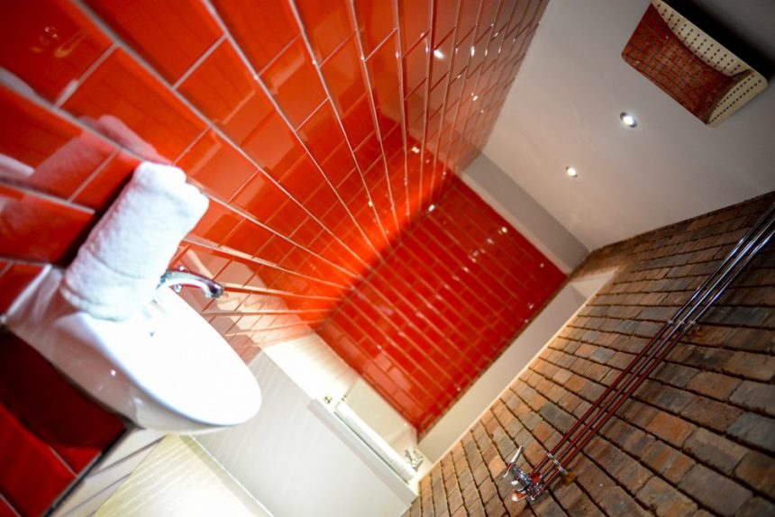 Arthouse double whirlpool bath ensuite - date night in Liverpool