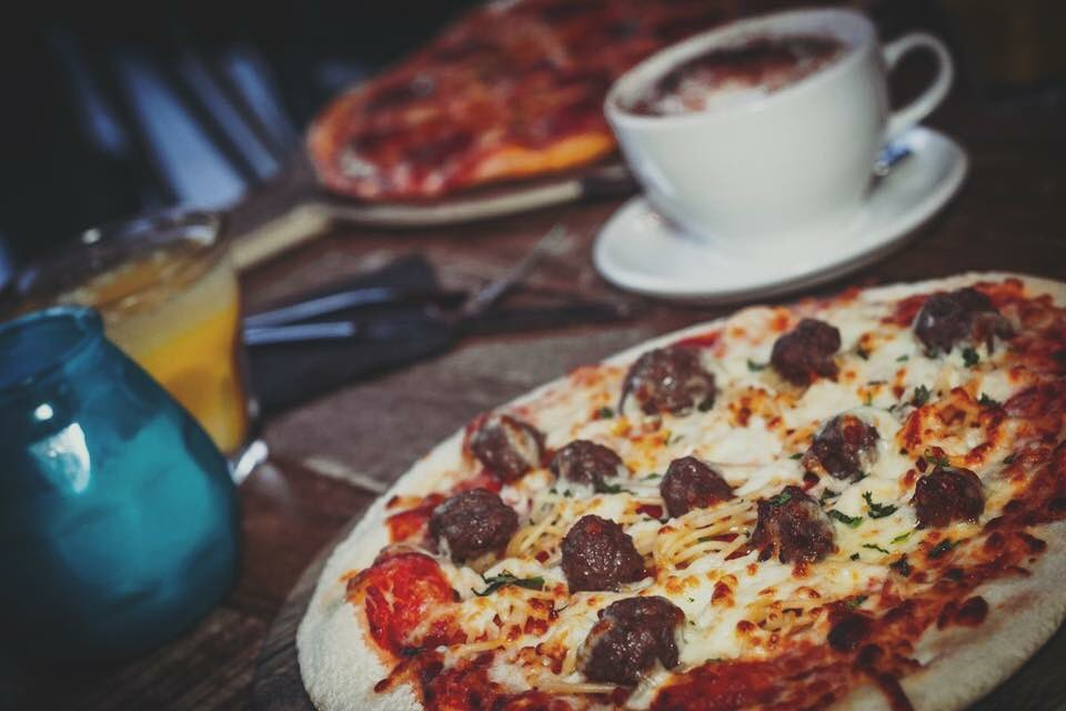 Meatball pizza - National Pizza Day