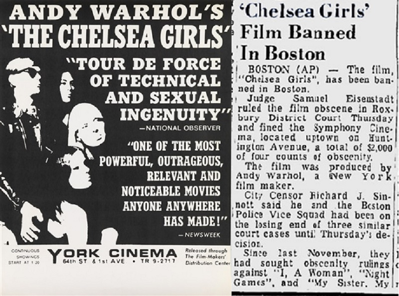 Warhol's Chelsea Girls press