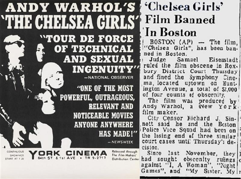 Warhol's Chelsea Girls press
